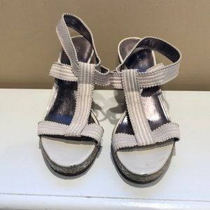 Calvin Klein wedge sandals.